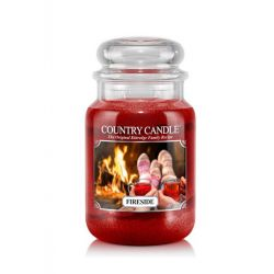 Candele profumate Country Candle color rosso  Fireside Large Jar online - Prezzo:   29.90 €