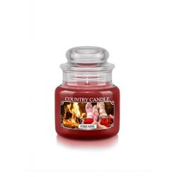 Candele profumate Country Candle color rosso  Fireside Small Jar online - Prezzo:   11.90 €