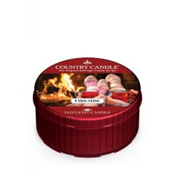 Candele profumate Country Candle color rosso  Fireside Daylight online - Prezzo:   3.65 €