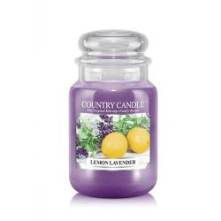Candele profumate Country Candle color viola  Lemon Lavender Large Jar online - Prezzo:   29.90 €