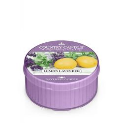 Candele profumate Country Candle color viola  Lemon Lavender Daylight online - Prezzo:   3.65 €