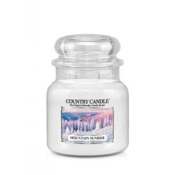 Candele profumate Country Candle color bianco  Mountain Sunrise Medium Jar online - Prezzo:   24.90 €