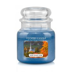 Candele profumate Country Candle color blu  New England Medium Jar online - Prezzo:   24.90 €