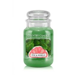 Candele profumate Country Candle color verde  Pine & Pomelo Large Jar online - Prezzo:   29.90 €