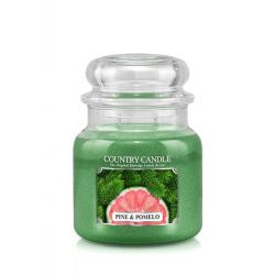 Candele profumate Country Candle color verde  Pine & Pomelo Medium Jar online - Prezzo:   24.90 €