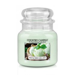 Candele profumate Country Candle color verde  Pistachio Gelato Medium Jar online - Prezzo:   24.90 €