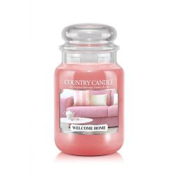 Candele profumate Country Candle color rosa  Welcome Home Large Jar online - Prezzo:   29.90 €