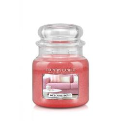 Candele profumate Country Candle color rosa  Welcome Home Medium Jar online - Prezzo:   24.90 €