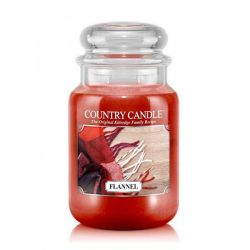 Candele profumate Country Candle color rosso  Flannel Large Jar online - Prezzo:   29.90 €