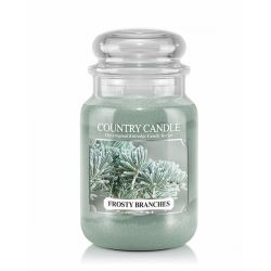Candele profumate Country Candle color verde  Frosty Branches Large Jar online - Prezzo:   29.90 €