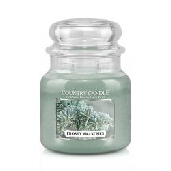 Candele profumate Country Candle color verde  Frosty Branches Medium Jar online - Prezzo:   24.90 €