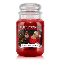 Candele profumate Country Candle color rosso  Jingle All The Way Large Jar online - Prezzo:   20.93 €