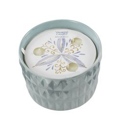 Candele Profumate Yankee Candle color azzurro  All Is Bright Medium Jar online - Prezzo:   22.90 €