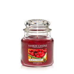 Candele profumate Yankee Candle color rosso  Black Cherry Medium Jar online - Prezzo:   24.90 €