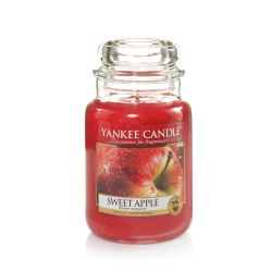 Candele profumate Yankee Candle color rosso  Sweet Apple Large Jar  online - Prezzo:   20.93 €