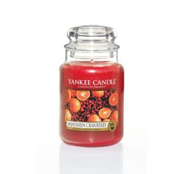 Candele profumate Yankee Candle color rosso  Mandarin Cranberry Large Jar online - Prezzo:   29.90 €