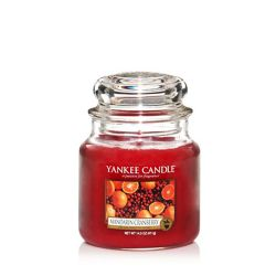 Candele profumate Yankee Candle color rosso  Mandarin Cranberry Medium Jar online - Prezzo:   24.90 €