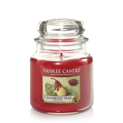 Candele profumate Yankee Candle color rosso  Cranberry Pear Medium Jar online - Prezzo:   24.90 €