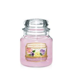 Candele profumate Yankee Candle color rosa  Floral Candy Medium Jar online - Prezzo:   24.90 €