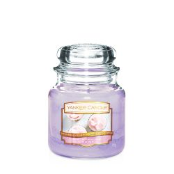 Candele profumate Yankee Candle color viola  Sweet Morning Rose Medium Jar online - Prezzo:   24.90 €