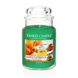 Yankee Candle  color verde  Alfresco Afternoon Large Jar online - Prezzo:   29.90 €