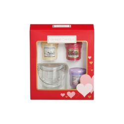 Candele profumate Yankee Candle color rosso  Gift Set San Valentino online - Prezzo:   11.90 €