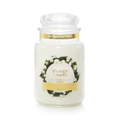 Candele profumate Yankee Candle color bianco  Lily of the Valley Large Jar online - Prezzo:   29.90 €
