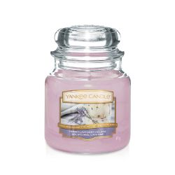 Yankee Candle  color lilla  Honey Lavender Gelato Medium Jar online - Prezzo:   24.90 €