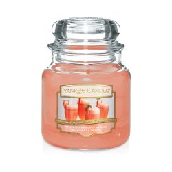 Yankee Candle  color arancione  White Strawberry Bellini Medium Jar online - Prezzo:   24.90 €