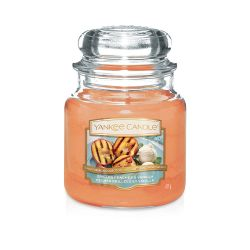 Yankee Candle  color arancione  Grilled Peaches & Vanilla Medium Jar online - Prezzo:   24.90 €