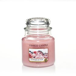Candele profumate Yankee Candle color rosa  Summer Scoop Medium Jar online - Prezzo:   18.68 €