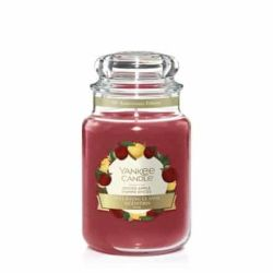 Candele profumate Yankee Candle color rosso  Spiced Apple online - Prezzo:   29.90 €