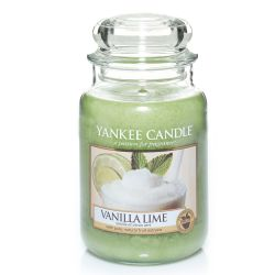 Candele profumate Yankee Candle color verde  Vanilla Lime Large Jar online - Prezzo:   29.90 €