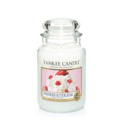 Candele profumate Yankee Candle color bianco  Strawberry Buttercream Large Jar online - Prezzo:   29.90 €