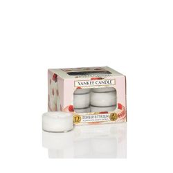 Candele profumate Yankee Candle color bianco  Strawberry Buttercream Tea Light online - Prezzo:   9.95 €