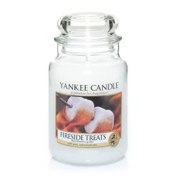 Candele profumate Yankee Candle color bianco  Fireside Treats Large Jar online - Prezzo:   29.90 €