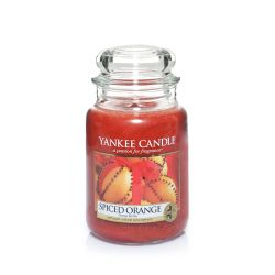 Candele profumate Yankee Candle color arancione  Spiced Orange Large Jar online - Prezzo:   29.90 €