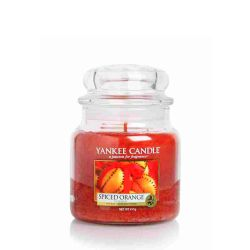 Candele profumate Yankee Candle color marrone  Spiced Orange Medium Jar online - Prezzo:   24.90 €