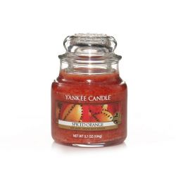 Candele profumate Yankee Candle color arancione  Spiced Orange Small Jar online - Prezzo:   11.90 €