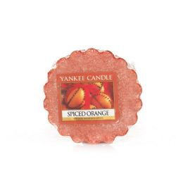 Candele profumate Yankee Candle color arancione  Spiced Orange Tarts Wax Melts online - Prezzo:   2.25 €
