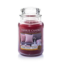 Candele profumate Yankee Candle color rosa  Home Sweet Home Large Jar online - Prezzo:   29.90 €