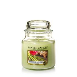 Candele profumate Yankee Candle color verde  Lemongrass & Ginger Medium Jar online - Prezzo:   24.90 €
