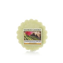 Candele profumate Yankee Candle color verde  Lemongrass & Ginger Tarts Wax Melts online - Prezzo:   2.25 €