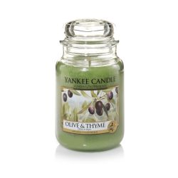 Candele profumate Yankee Candle color verde  Olive & Thyme Large Jar online - Prezzo:   29.90 €