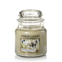 Candele profumate Yankee Candle color verde  Olive & Thyme Medium Jar online - Prezzo:   24.90 €