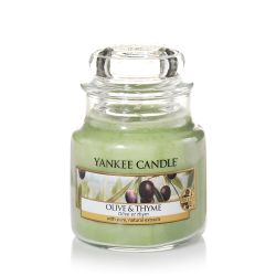 Candele profumate Yankee Candle color verde  Olive & Thyme Small Jar online - Prezzo:   11.90 €