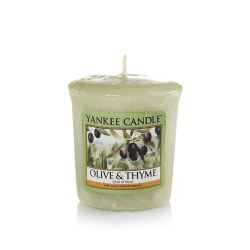 Candele profumate Yankee Candle color verde  Olive & Thyme Votive online - Prezzo:   2.65 €