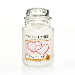 Giare grandi Yankee Candle  color bianco  Snow In Love Large Jar online - Prezzo:   20.93 €