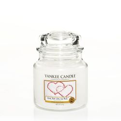 Candele profumate Yankee Candle color bianco  Snow In Love Medium Jar online - Prezzo:   24.90 €