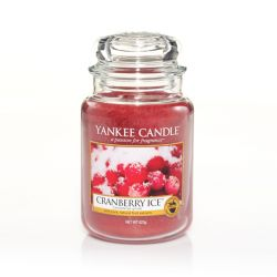 Candele profumate Yankee Candle color rosso  Cranberry Ice Large Jar online - Prezzo:   29.90 €